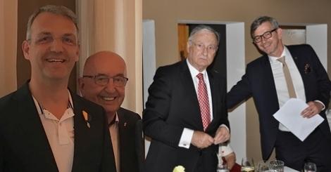 J.P. Cordes (li.) und H. Everding (3. v. li.) freuen sich mit P S. Kipp über die Auszeichnung durch H.G. Benthaus (2. v.li.)
