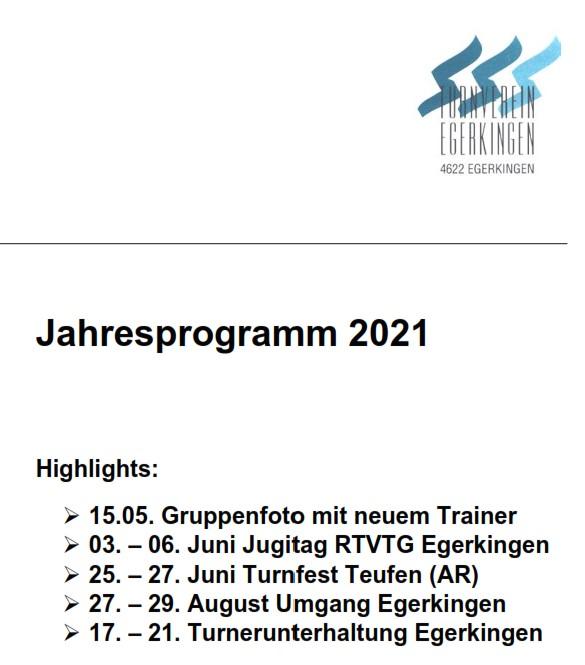 Jahresprogramm 2021 online