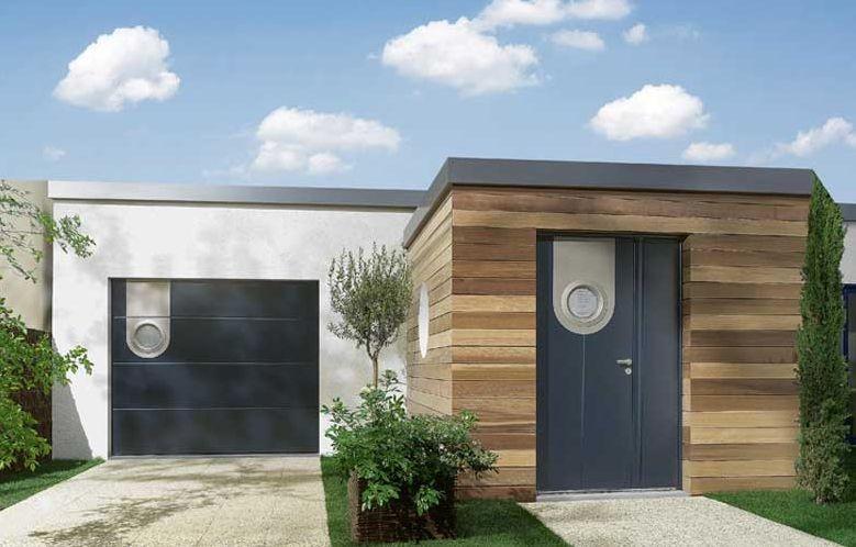 Porte d39entree a la rochelle ile de re rochefort for Porte de garage coulissante jumelé avec porte paliere blindee