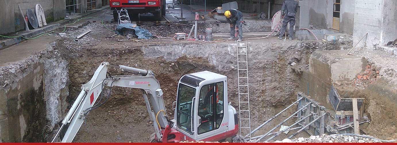 Abbrucharbeiten - Oberauer Baggerbetrieb
