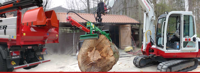 Holzspalter, Minibagger