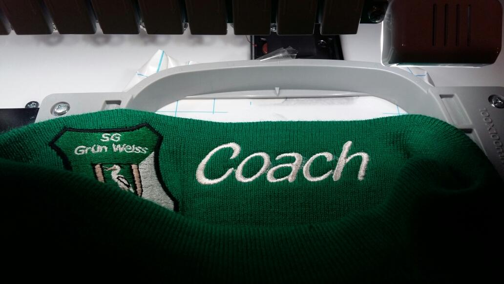 Customizing - Strickmütze für den Coach