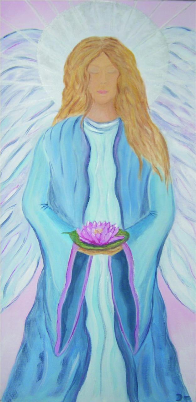 """""""Lotusengel""""   Größe: 40 x 80 cm, Acry auf Leinwand       -bereits vergeben-"""