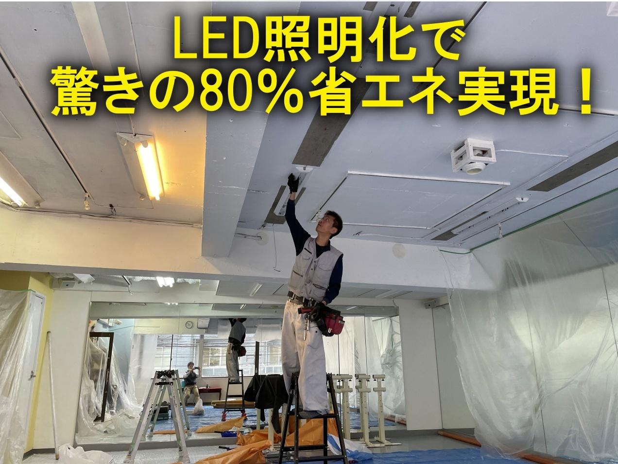 LED照明化で驚きの80%省エネ実現!