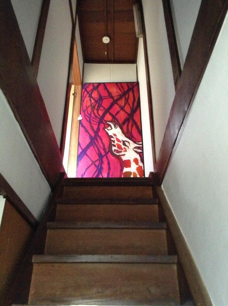 """階段から2階を見上げると〜っ"""""""""""