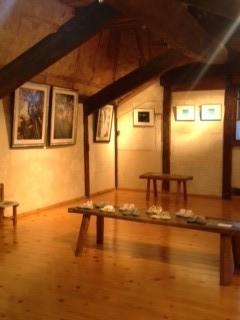 屋根裏ギャラリー展示風景