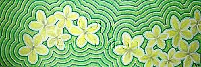 Green Frangipani / Rita Steiner ArtCreation