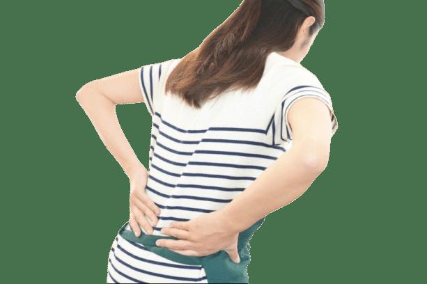 産後の腰痛に悩まれている患者様の様子