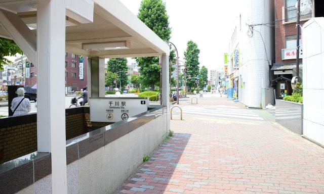 千川駅前の風景
