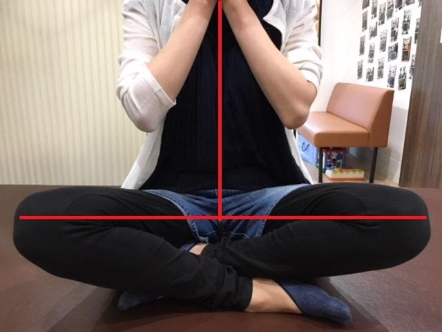 産後骨盤矯正施術後の身体バランス写真