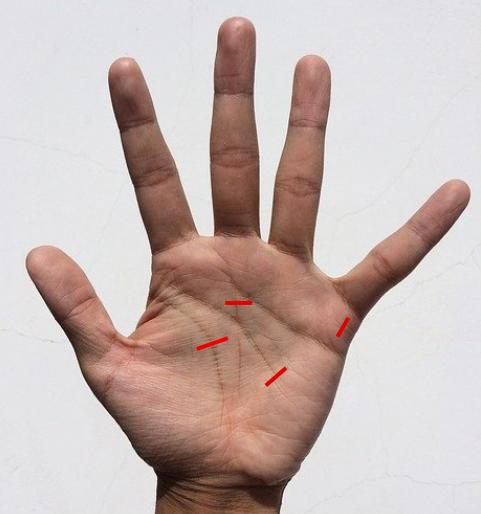 手相に障害線が出ていると、注意