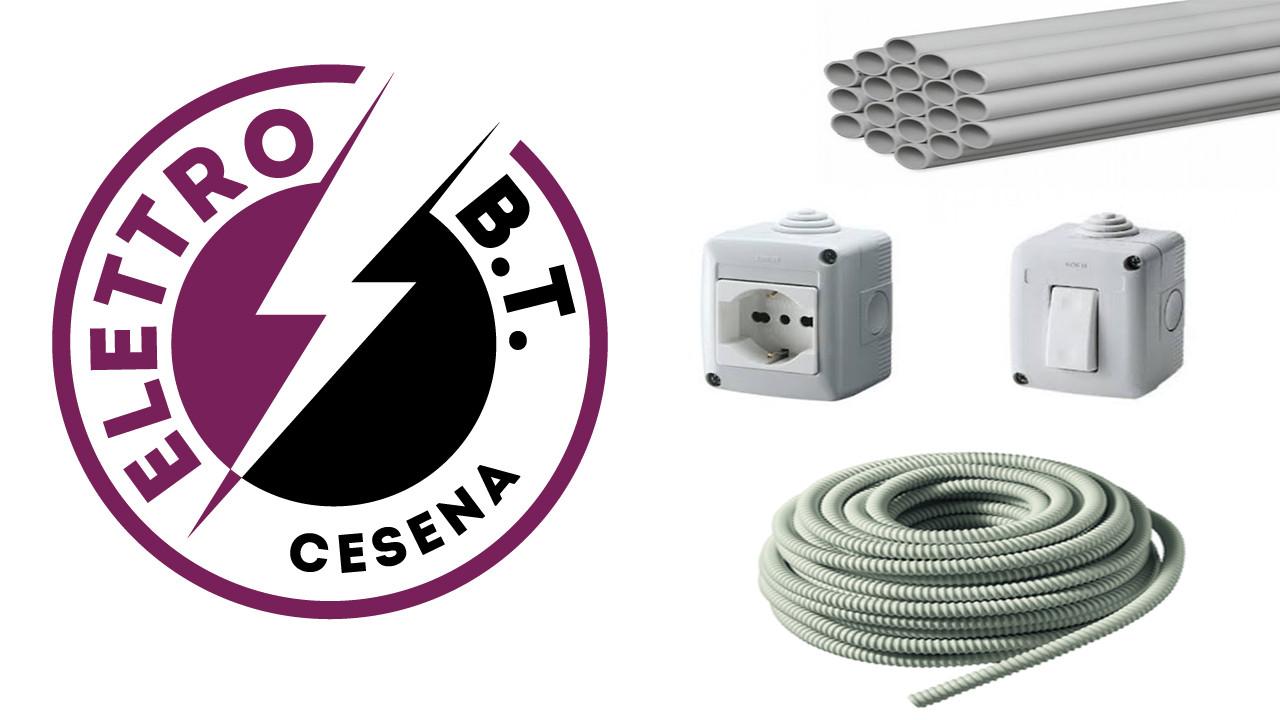 Impianti Elettrici a Cesena con Tubazioni in PVC su Garage