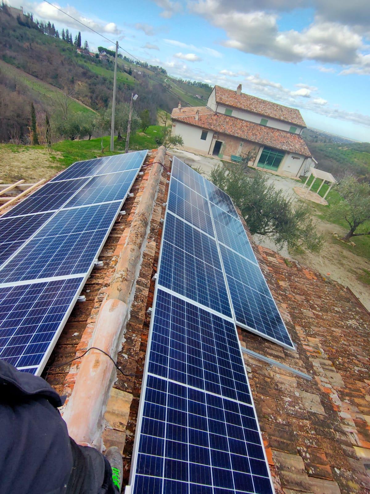 Impianto Fotovoltaico a Cesena indipendente senza scambio con Enel