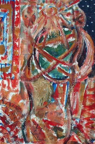 Das gruene Herz, 40 cm x 60 cm, Acryl auf Leinwand, 2009