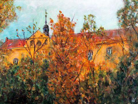 Schloss Muehlberg im Herbst