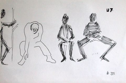 U7, Bleistift und Tusche auf Papier, ca. 20 x 30 cm, 1993