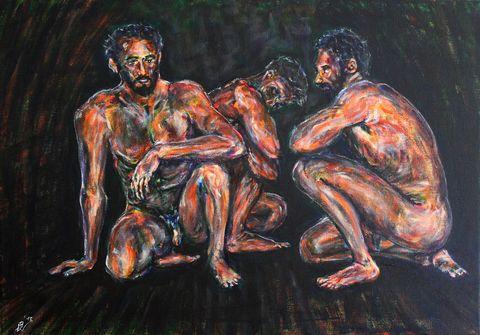 13 Der Anfang vom Ende, Acryl auf Leinwand, 70 cm x 50 cm, 2018 - 1200 Euro
