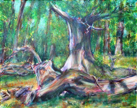 67 Waldlichtung, Acryl auf Baumwolle, 50 cm x 40 cm, 2015 - 800 Euro