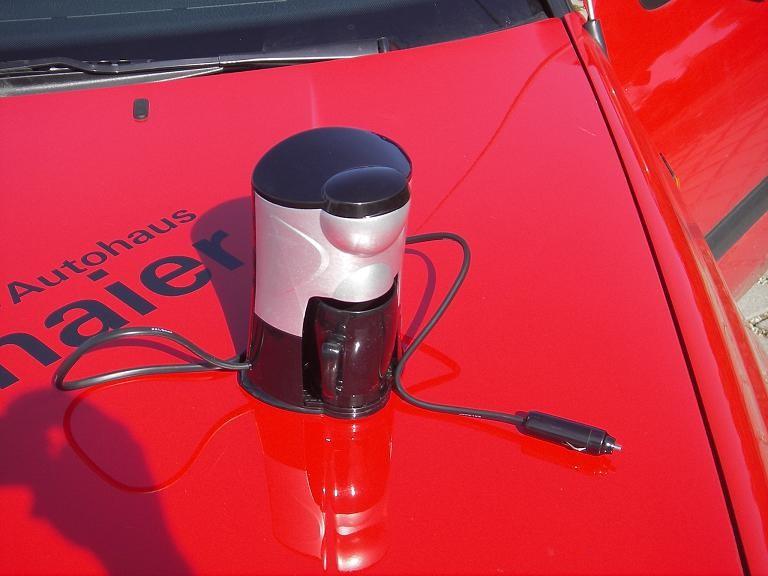 Wichtig für die Besatzung: Kaffeemaschine an Bord