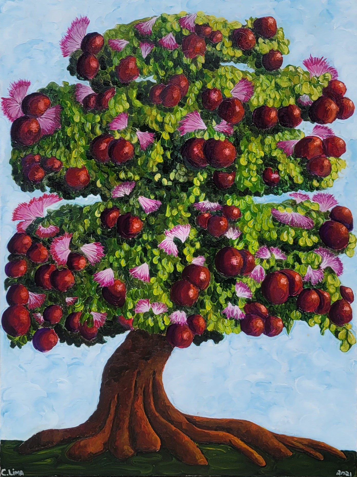 """Dream Tree"", 40""x 30"" ,Oil on Canvas, 2021"