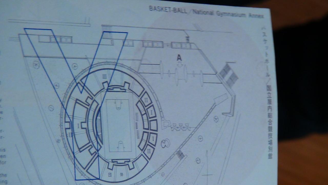 チケットの裏には会場だった代々木第二体育館の見取り図も!