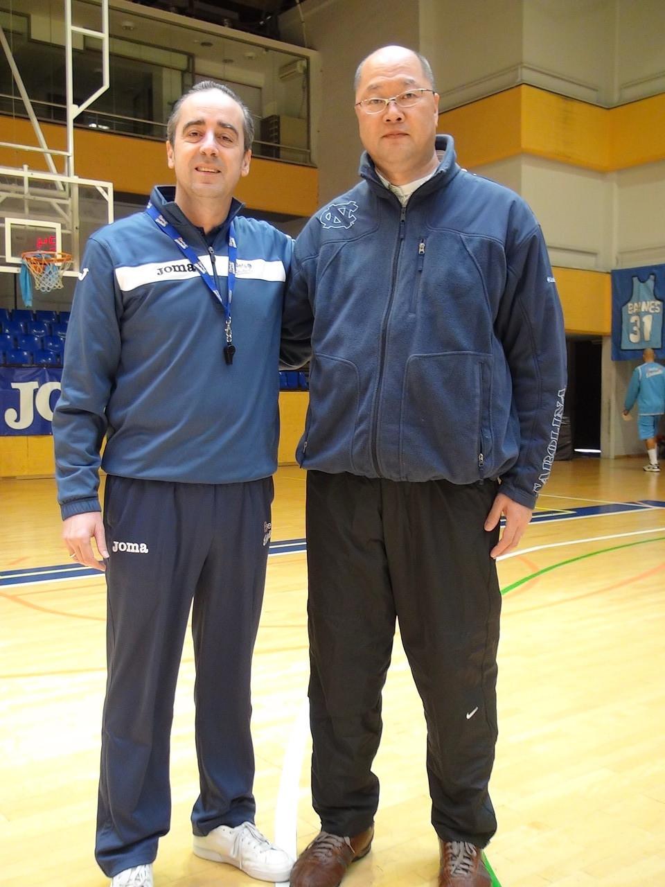トップチームHCのチュス・ビドレタ氏と筑波大学HCの吉田健司氏