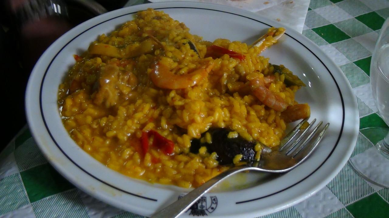 スペイン名物のパエリヤ!美味しかったです!