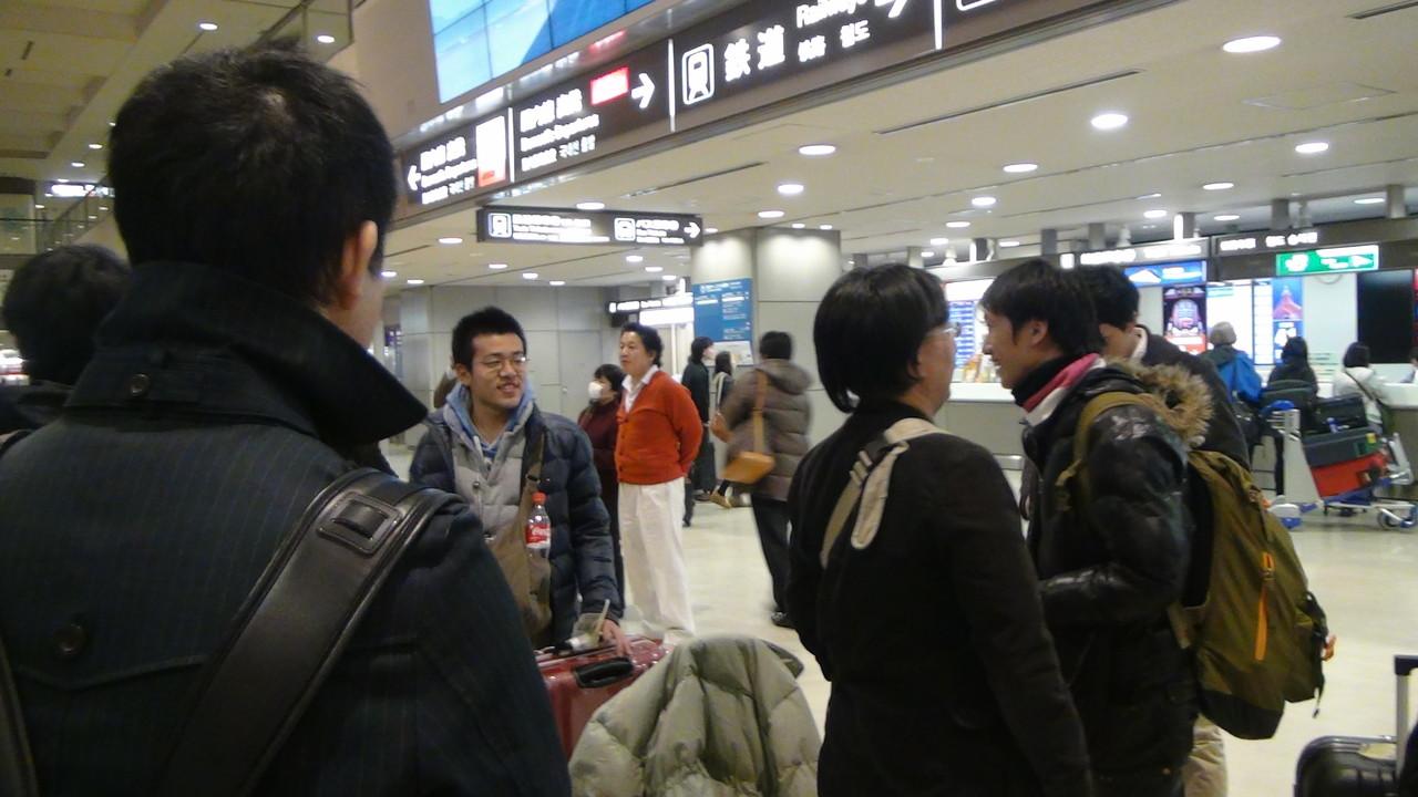 無事成田空港に到着!