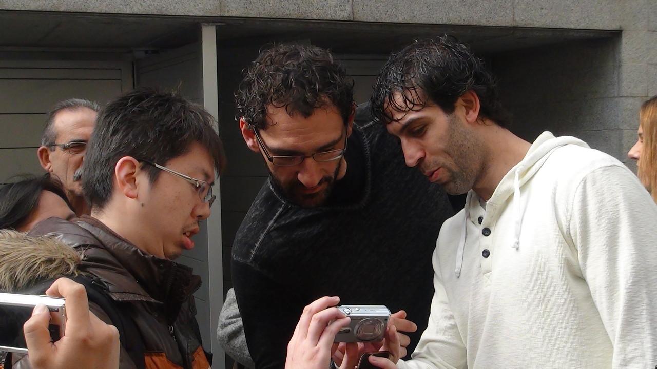 ハルバホーサさんとムルシアのロドリゲス選手(共に2006年スペイン代表)