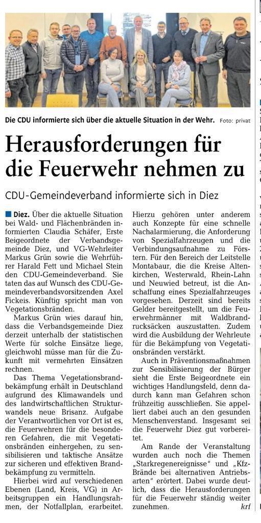Quelle: Rhein-Lahn-Zeitung, Ausgabe Diez