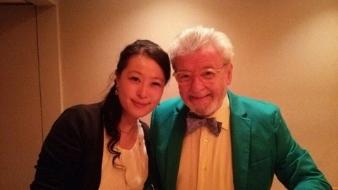With Great world famous flutist Sirt James Galway 世界的フルート奏者 サー・ジェームス・ゴールウェイ氏と