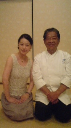 "with Mr.Murata  Master chef of Famous Japanese quisine""KIKUNOI"" 京都菊乃井の村田さんと"
