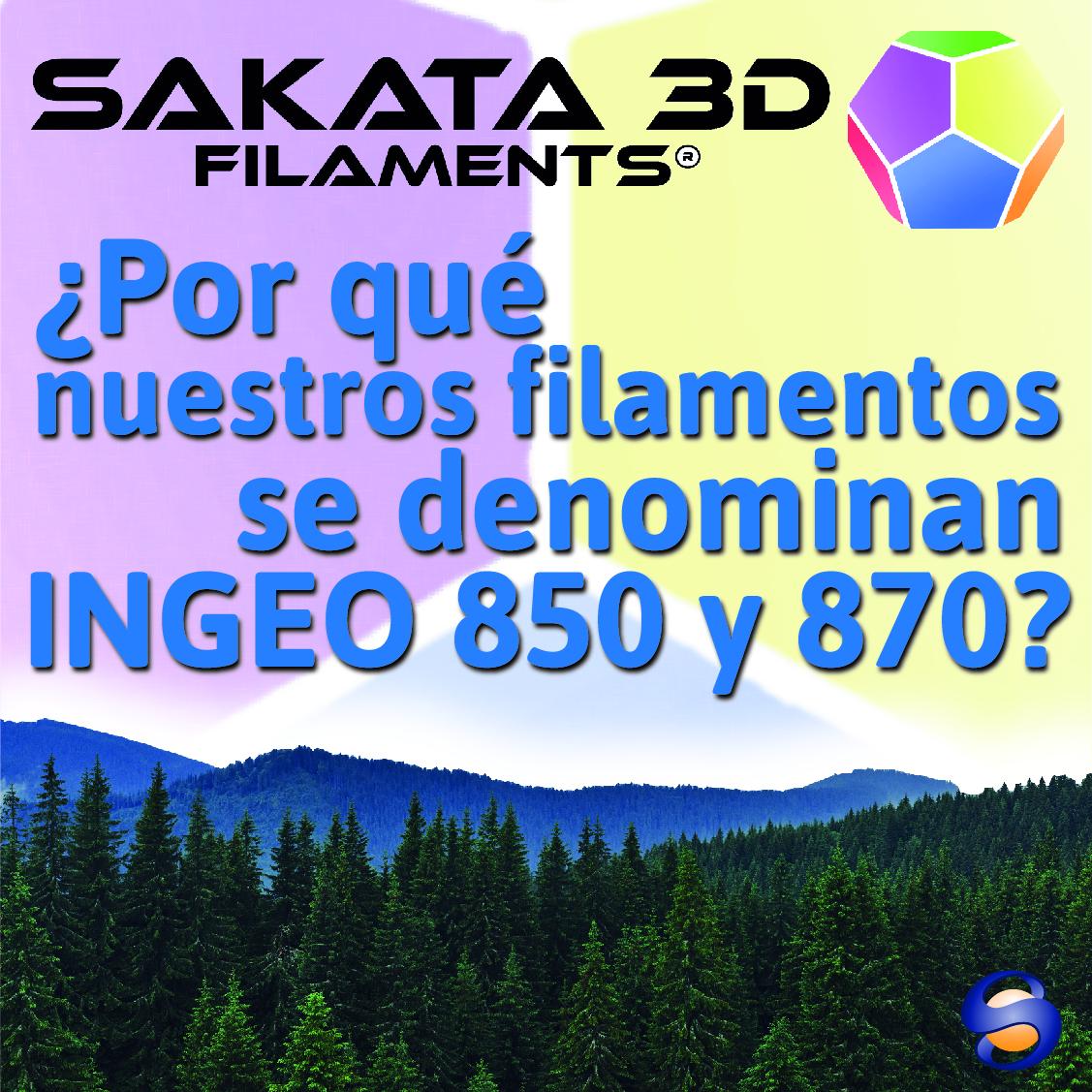 ¿Por qué nuestros filamentos se denominan INGEO 850 y 870?
