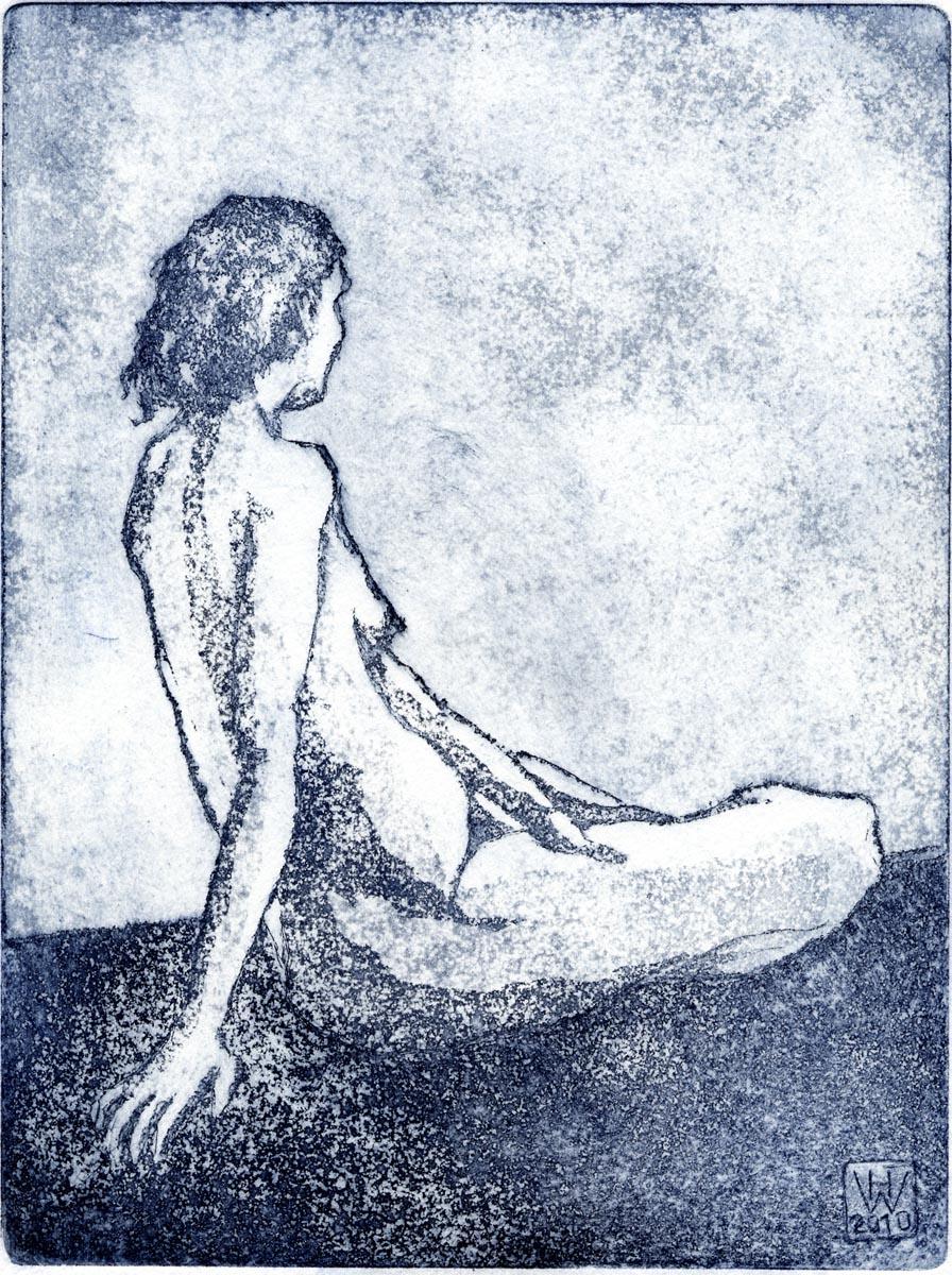 Akt 1, Aquatinta  20x15 cm