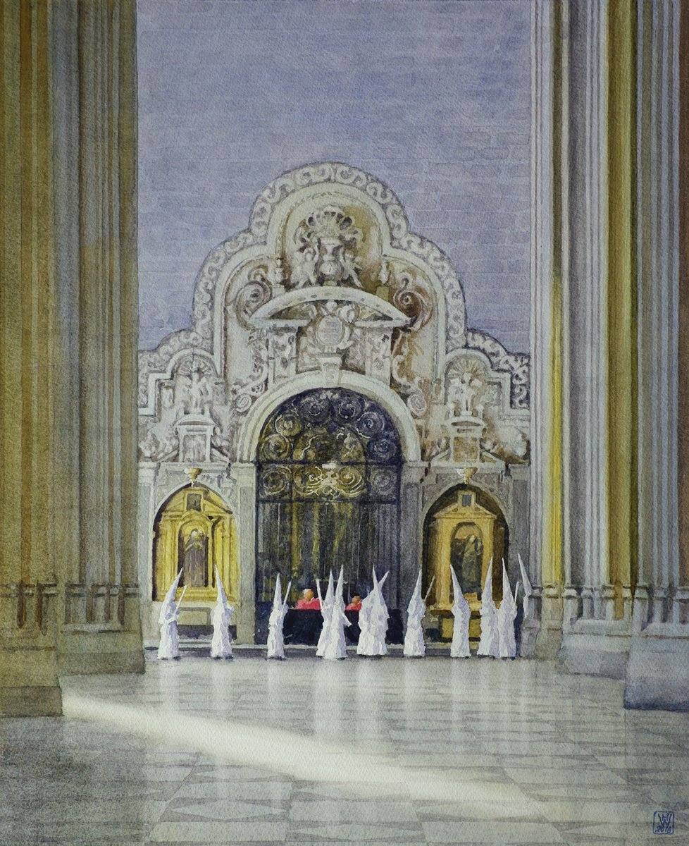 Semana Santa, Sevilla, Andalusien - Aquarell  52x43 cm