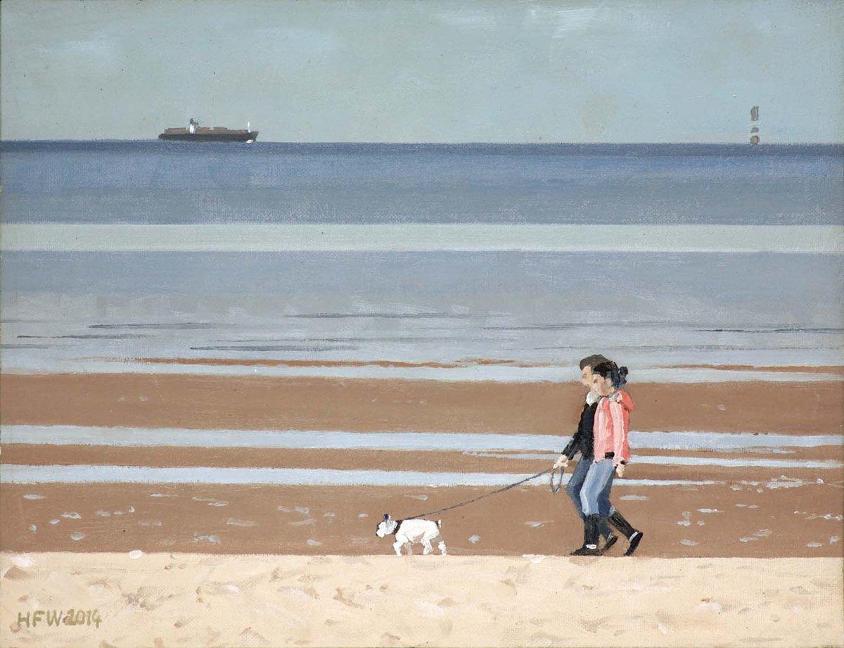 Am Meer (Studie) - Öl  auf Malplatte  21,5x27,5 cm
