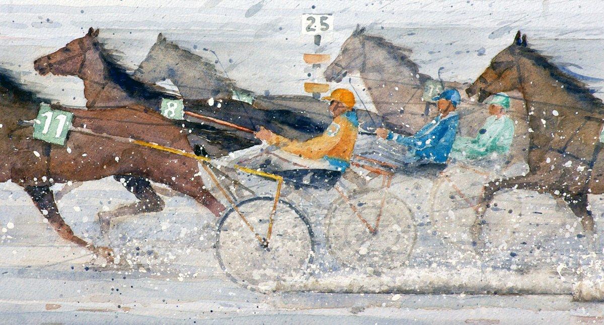 Wattrennen, Cuxhaven-Duhnen (Detail) - Aquarell 43x65 cm  NFS