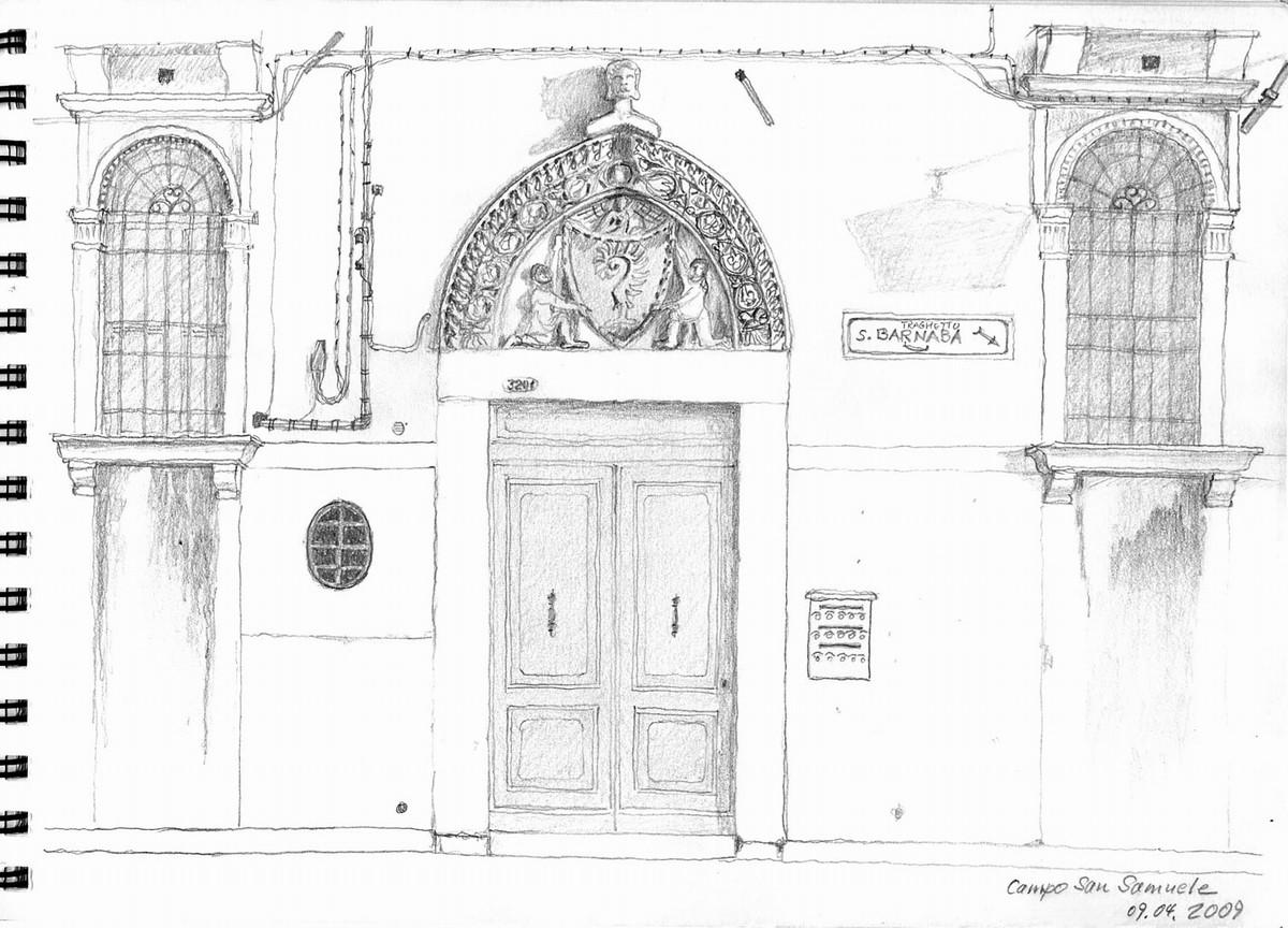 Campo di San Samuele, Venedig - Aus Skizzenbuch  21x28,5 cm  NFS