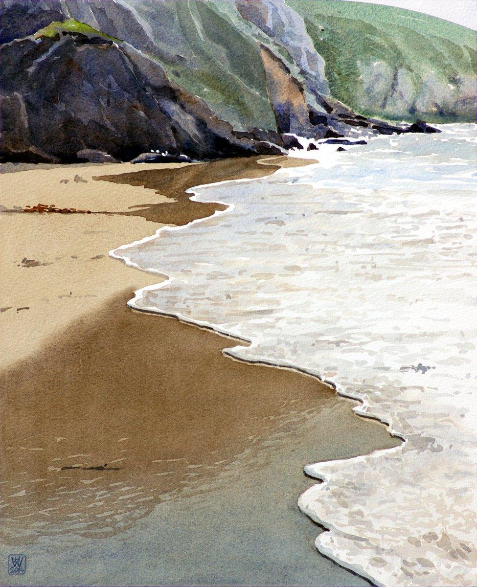 Bretagne, Küste bei Pointe du Raz - Aquarell  44x36 cm