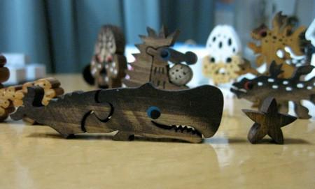 MY WOOD MONSTER MATCH BOX #8. マッコウクジラとヒトデ