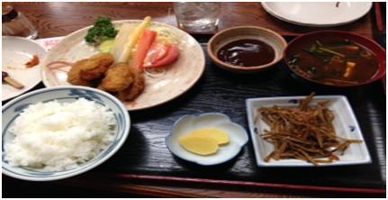 風来坊の牡蠣定食!