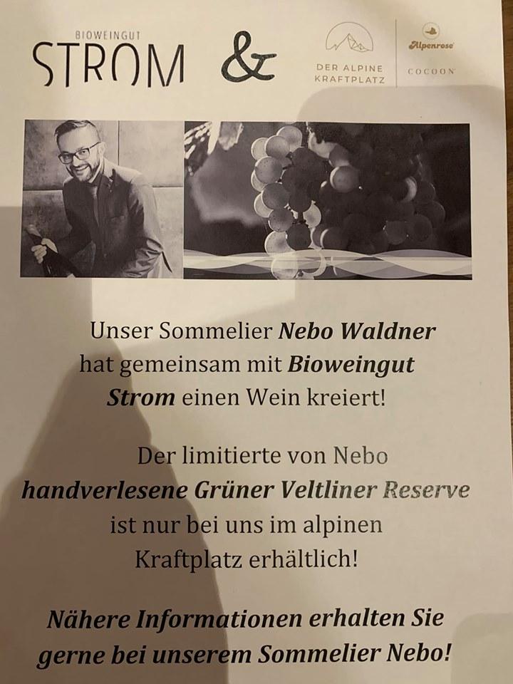 Ein großes Dankeschön an Nebo Waldner