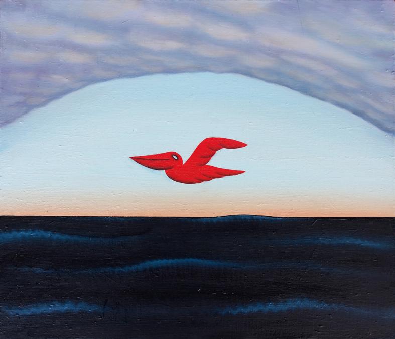ペリカン / Pelican,  油絵 / Oil Painting,  2018