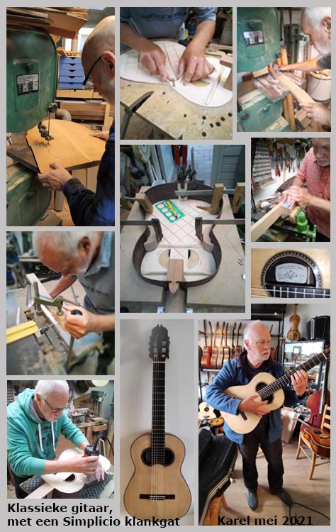 Karel | Workshop bouw van een klassieke gitaar met een Simplicio klankgat