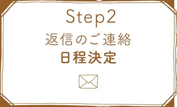ステップ2返信のご連絡、日程決定画像
