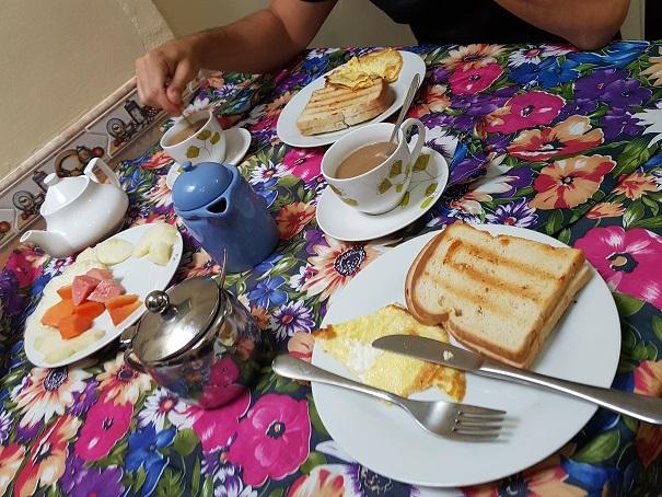 Unser Frühstück inkludierte jeden Tag einen Käsetoast - yummy!