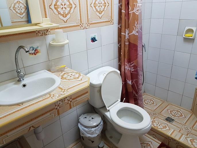 Das Badezimmer war sehr sauber und für Kuba-Verhältnisse sehr neuwertig