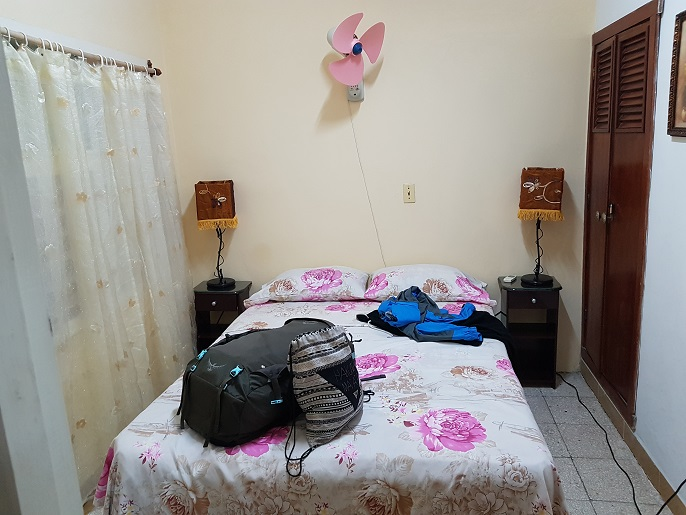 So sah unser Doppelzimmer im Casa Particular in Varadero aus