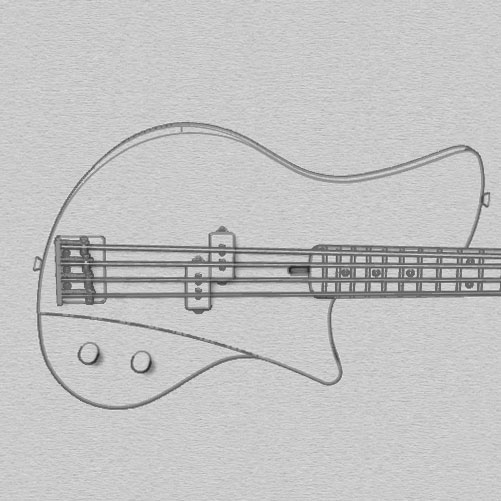 bassguitar rendering with rhino - feel the bass -