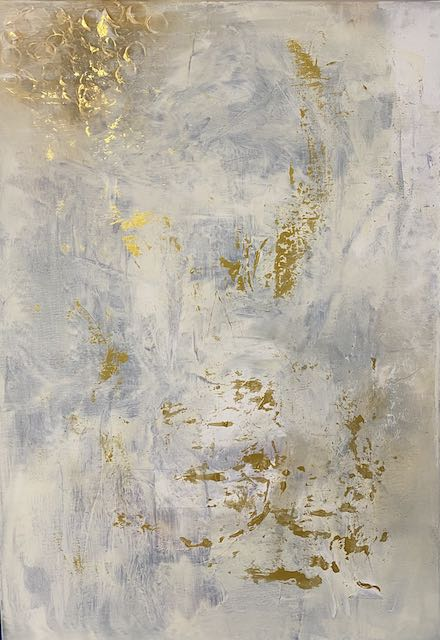 """Gold-Empfang"" 70 x 100 cm - 1700,- Euro"